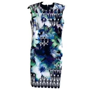 Vince Camuto Blue Body-con dress Printed Floral 2P